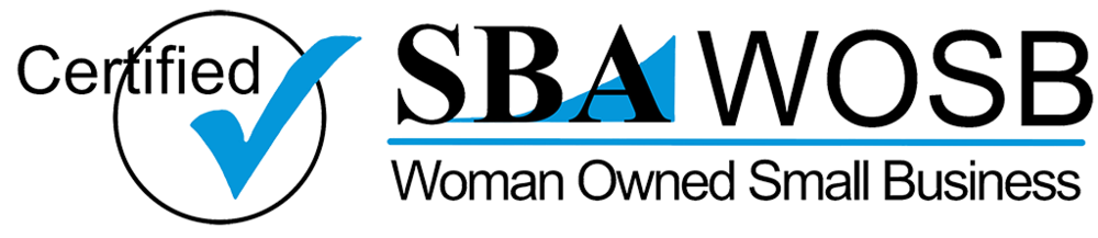 Women Owned Small Business logo in the footer.
